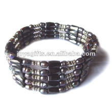 """Magnetic Brown Pearl Beaded Wrap Bracelets & Collier 36 """""""