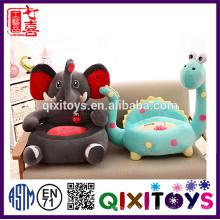 Chaise de jouet en peluche bourrée par ICTI usine Chaise de jouet en forme animale sûre de chaise de bébé