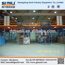 High volume steel sectional mezzanine floor storage systems