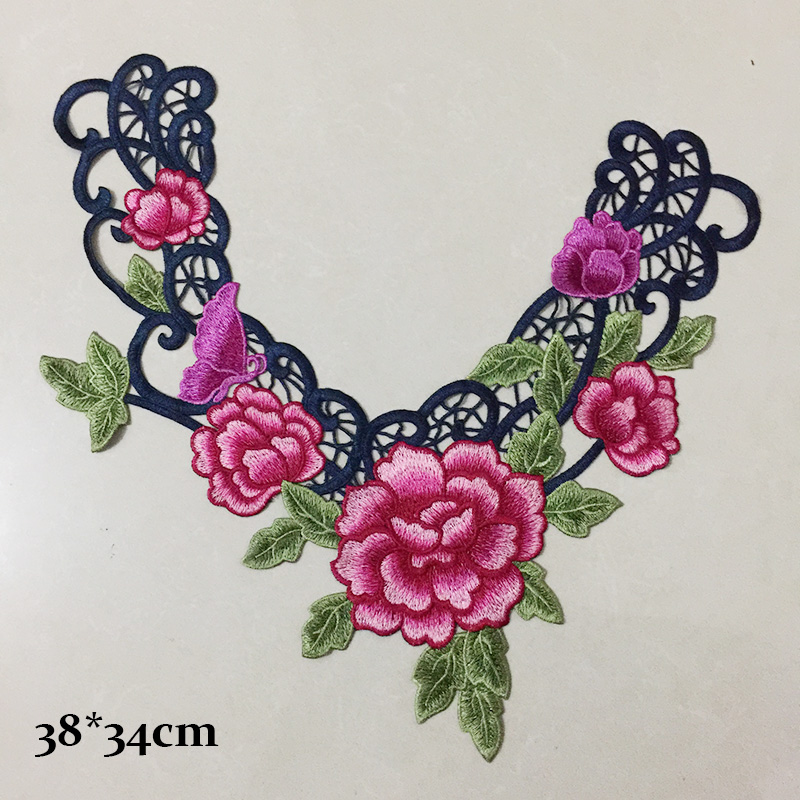 Embroidery collar design