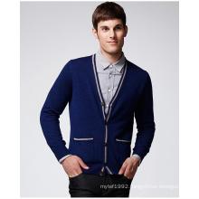 ODM Pure Colour Man Sweater Cardigan