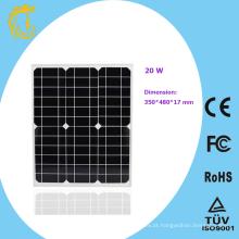 Painel solar de silício monocristalino flexível de 20w