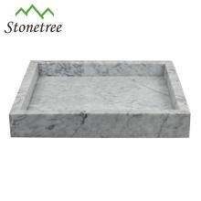 Bandeja de tocador de mármol de bandeja de almacenamiento de piedra natural 100%