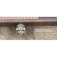 Mode Ring Charme Kupfer Farbe Kopf der indischen Modellierung