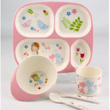(BC-MK1002) Fashinable Design réutilisable Melamine Kids Cute Dinner Set