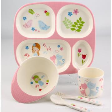 (BC-MK1002) Модный дизайн Многоразовый меламин Дети Симпатичный набор ужин