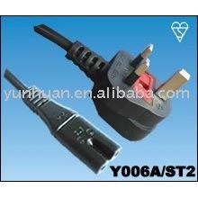 Vendemos britânico tipo cabo de alimentação cabo Set - UK 3 pino Plug