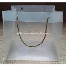 Bolso de regalo de plástico de diseño nuevo personalizado de fábrica con mango de clip (bolso de compras impreso)