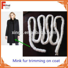 En gros fourrure de vison queue de vison garniture de fourrure pour le manteau