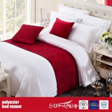 Chemin de lit de tissu de décoration de polyester