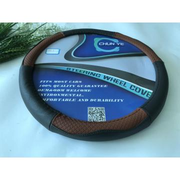 100% Real leather steering wheel cover