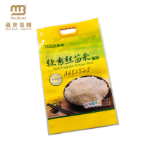 Biodegradable material heavy duty strong sealing packing rice plastic vacuum bag with handle