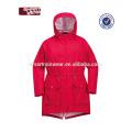 Momen hoody transpirable pu rojo impermeable chaqueta de lluvia