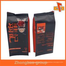 Guangzhou fabricante grossista material laminado personalizado impresso metalized kraft sacos de papel de café