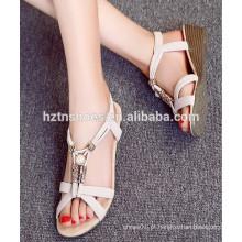 Moda bela fantasia novo design mais recente senhora sandália