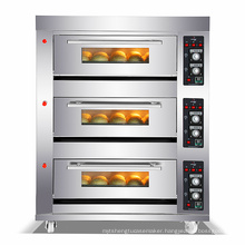 Golden Chef Top Commercial Baking Oven Machine Mechanical Control Professional 3 Deck 6 Trays Bakery Gas Oven