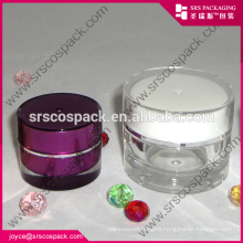 China Customized Round Shape Cream Jar Acrylic Jar For Csometic Packaging Inject Bottle