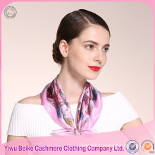 New products super quality white Silk Head Scarf for painting