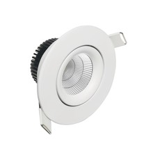 8W CCT downlight led dimmable anti-reflets