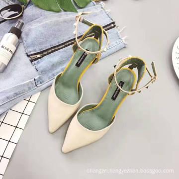 2017 New fashion women sandal high heels shoes lady dress shoes