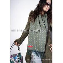 Lenço de lã jacquaard mancha de moda feminina