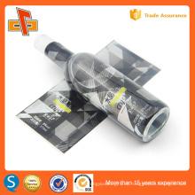 Etiquetas personalizadas de plástico PVC PET para envolver botellas