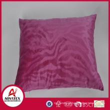 Onda rosa em relevo travesseiro almofada, micromink coxim sólido, almofada travesseiro fábrica