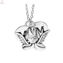 2017 venda quente do dia da mãe prata moda anjo whisperer colar