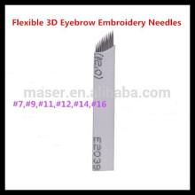 Alta qualidade U-Shape Sobrancelha Microblading permanente maquiagem agulha.