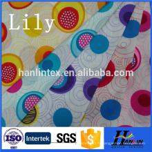 Vente en gros 100% polyester 210t 190t teint et imprimé en taffetas