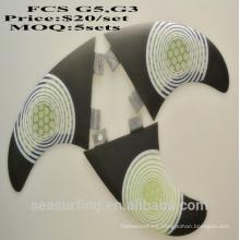 FCS G7 surfboard fins white honecomb fiberglass surf fin