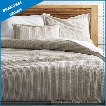 Выделенная текстура Хлопчатобумажная льняная жаккардовая постель