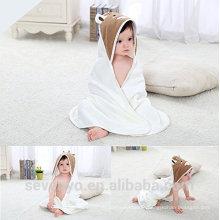 High quality cow animal face 100% bamboo Boys & Girls baby bamboo towel premium baby bath towel
