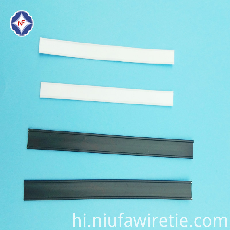 cutted plastic double wire tin tin for bread bag