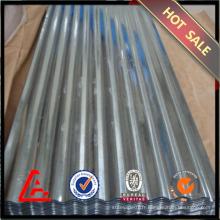 Tôle d'acier ondulé galvanisé 762 mm / tôle d'acier galvanisée / prix à bas prix toiture métallique