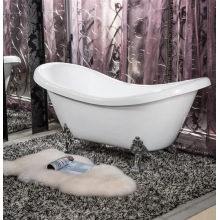 Acrylic Classical Bathtub with 4 Metal Legs for Adults