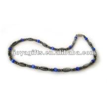 Magnetische Hämatit Katze Auge Perlen Halskette