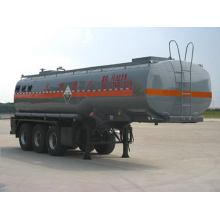 10.5m Tri-axle Transport Semi-trailer For Corrosive Liquid