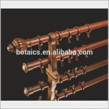 home decorative curtain rod wholesale ,plastic curtain finial metal curtain pole ,resin curtain finial