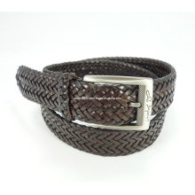 Classic Leather Braided Woven Belt
