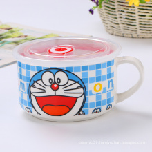 Wholesale fresh-keeping cartoon style ceramic bowls