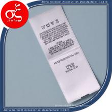 Étiquette Polyster de lavage de satin de prix bon marché / étiquette imprimée
