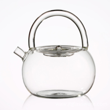 Coffee Tea Leaf Microwave Oven Glass Teapot