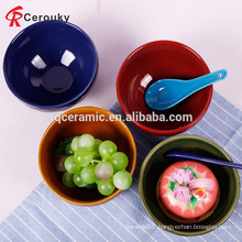 Custom promotional plain emboss ceramic new bone china soup bowl