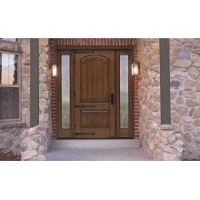 Portas da frente rústicas exteriores da qualidade da madeira maciça para o hotel, casa de campo