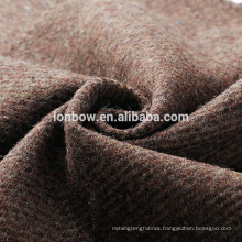2018 100% wool suit fabric tweed in brown twill design