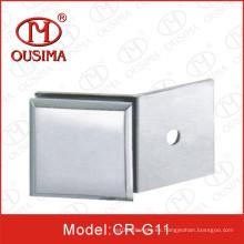 Aleación de zinc Único lado 180 grados Vidrio partición clip utilizado en ducha (CR-G11)