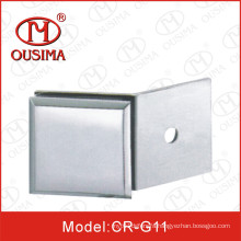 Zinc Alloy Single Side 180 Degree Glass Partition Clip Used in Shower Room (CR-G11)