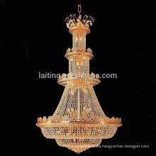Large size luxury crystal chandelier light,hotel crystal high ceiling lighting fixture-16052