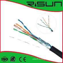 ETL / CE / RoHS / ISO Cable aprobado del ftp Cat5e 4 pares, sólido, Lszh